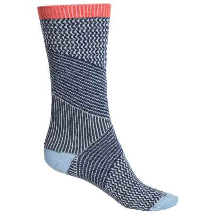 Goodhew It's a Wrap Socks - Merino Wool Blend, Crew (For Women) in Denim - Closeouts