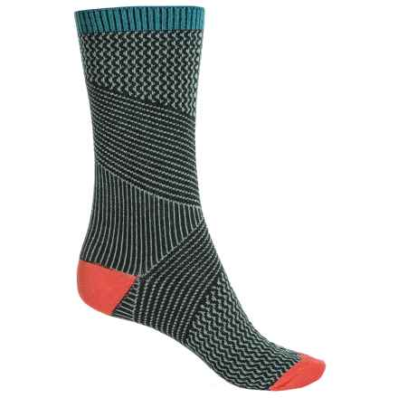 Goodhew It's a Wrap Socks - Merino Wool Blend, Crew (For Women) in Pine - Closeouts