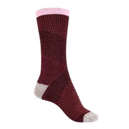 Goodhew It's a Wrap Socks - Merino Wool Blend, Crew (For Women) in Port - Closeouts
