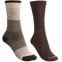 Goodhew Jasmin & Skinny Minnie Socks - Merino Wool, 2-Pack (For Women) in Espresso - Closeouts