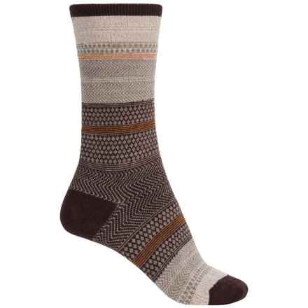 Goodhew Jasmin Socks - Merino Wool, Crew (For Women) in Espresso - Closeouts