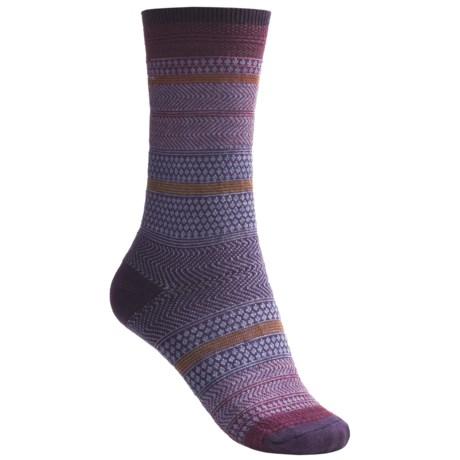 Goodhew Jasmin Socks - Merino Wool, Crew (For Women) in Plum