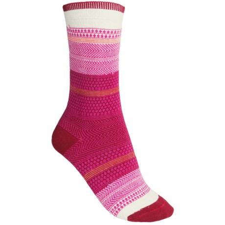 Goodhew Jasmin Socks - Merino Wool, Crew (For Women) in Ruby