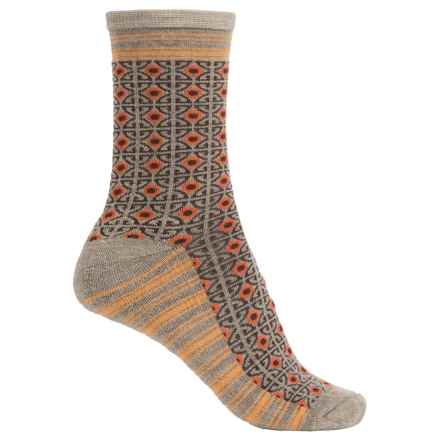 Goodhew Kimono Socks - Merino Wool, Crew (For Women) in Khaki - Closeouts