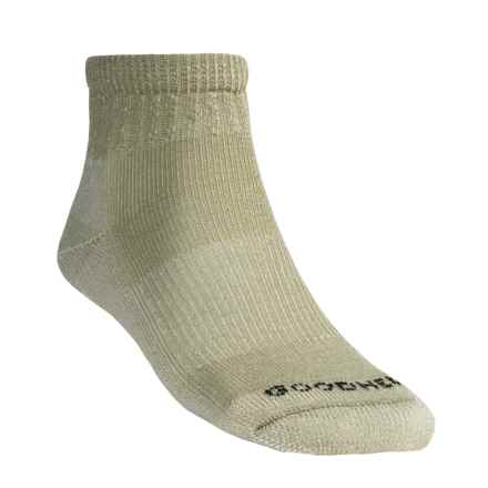 Goodhew Light Cushion Hiking Socks - Merino Wool,  Quarter Crew (For Men and Women) in Khaki - 2nds
