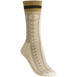 Goodhew Lumber Jane Socks - Merino Wool, Crew (For Women) in Natural