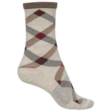 Goodhew Macro Plaid Socks - Crew (For Women) in Barley - Closeouts