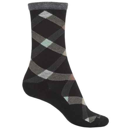 Goodhew Macro Plaid Socks - Crew (For Women) in Black - Closeouts