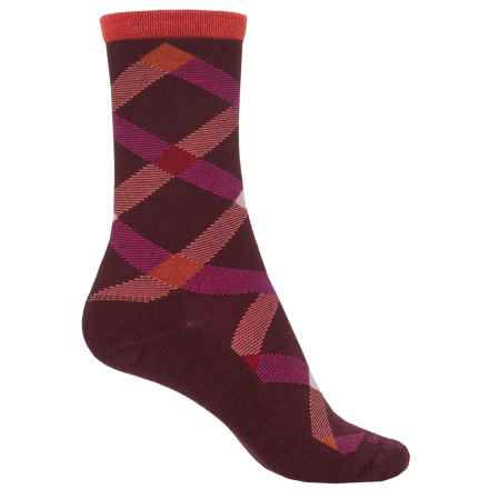 Goodhew Macro Plaid Socks - Crew (For Women) in Port - Closeouts