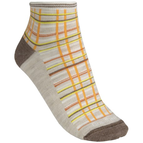 Goodhew Madras Socks - Ankle (For Women) in Barley