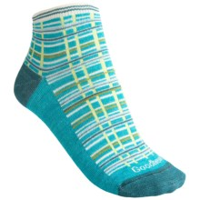 Goodhew Madras Socks - Ankle (For Women) in Turquoise - Closeouts