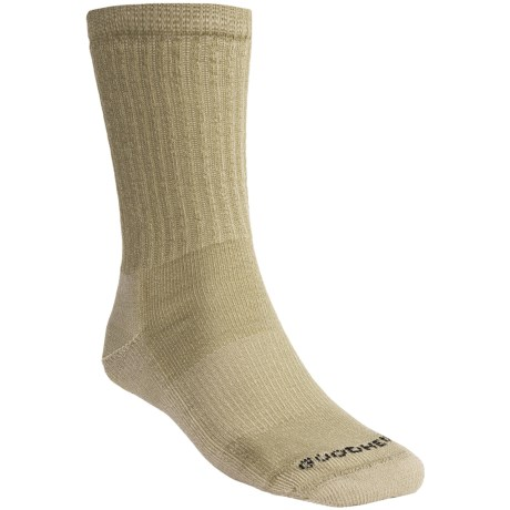 Goodhew Medium Hiking Socks - Merino Wool, Crew (For Men and Women) in Khaki