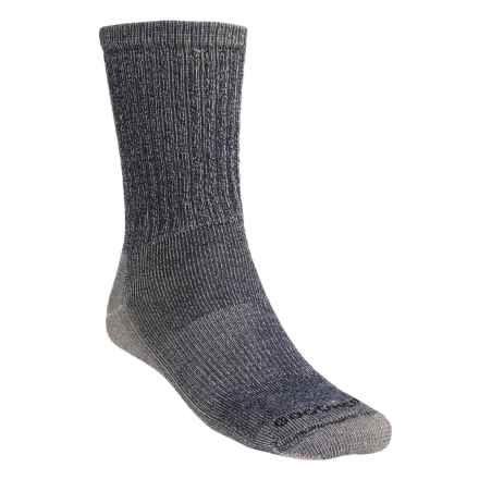 Goodhew Medium Hiking Socks - Merino Wool, Crew (For Men and Women) in Navy - Closeouts