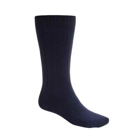 Goodhew Milan Socks - Merino Wool (For Men) in Navy - 2nds
