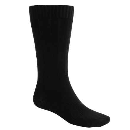 Goodhew Milan Socks - Merino Wool, Mid Calf (For Men) in Black - 2nds