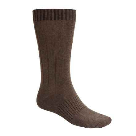 Goodhew Milan Socks - Merino Wool, Mid Calf (For Men) in Brown - 2nds