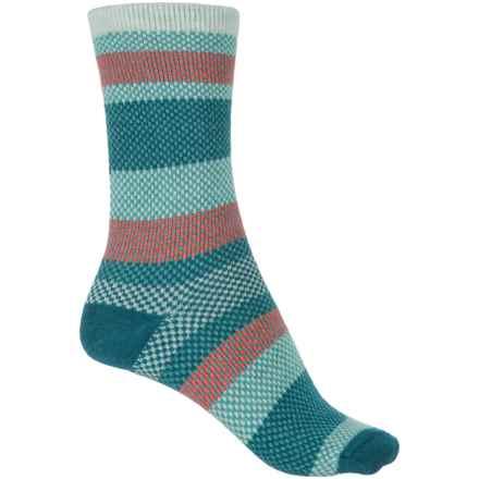 Goodhew Mixology Socks - Crew (For Women) in Celadon - Closeouts
