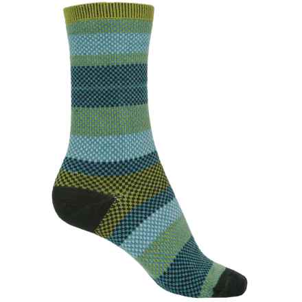 Goodhew Mixology Socks - Crew (For Women) in Green Chili - Closeouts