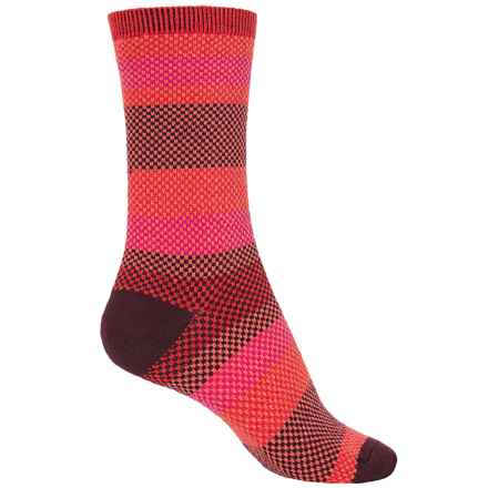 Goodhew Mixology Socks - Crew (For Women) in Poppy - Closeouts
