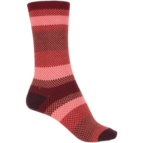 Goodhew Mixology Socks - Crew (For Women) in Ruby