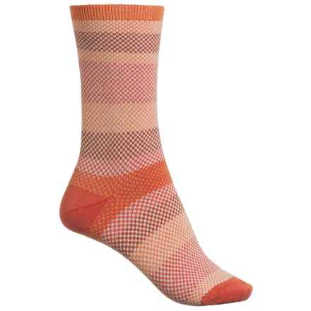 Goodhew Mixology Socks - Crew (For Women) in Tangy - Closeouts