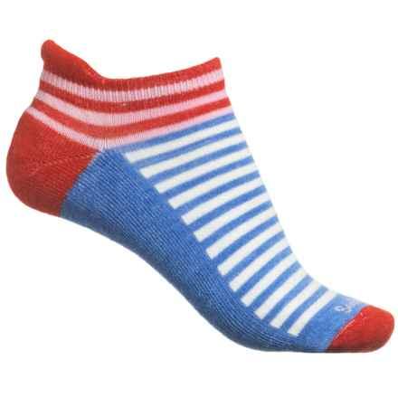 Goodhew Navigator Striped Socks - Ankle, Merino Wool (For Women) in Poppy - Closeouts