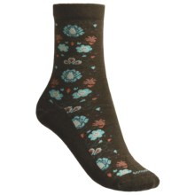 Goodhew Needlepoint Socks - Merino Wool (For Women) in Chocolate - Closeouts