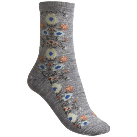 Goodhew Needlepoint Socks - Merino Wool (For Women) in Grey