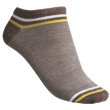 Goodhew OMG Footie Socks - Merino Wool, Lightweight (For Women) in Khaki/Bark/Polar/Aorosa - Closeouts