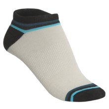Goodhew OMG Micro Footie Socks - Merino Wool, Below the Ankle (For Women) in Natural/Black/Teal/Turquoise - 2nds