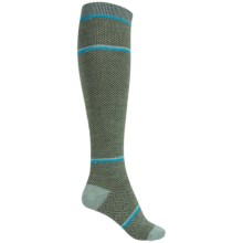 Goodhew Optic Tease Knee-High Socks - Merino Wool, Over the Calf (For Women) in Celadon - Closeouts