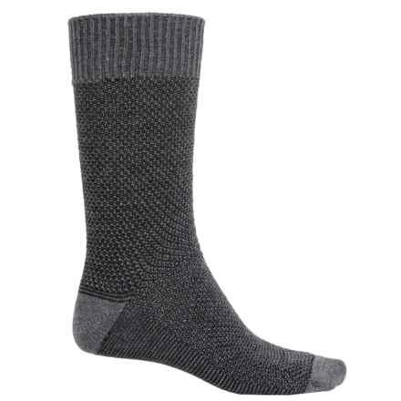 Goodhew Oxford Socks - Merino Wool, Crew (For Men) in Charcoal - Closeouts