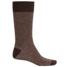 Goodhew Oxford Socks - Merino Wool, Crew (For Men) in Espresso - Closeouts