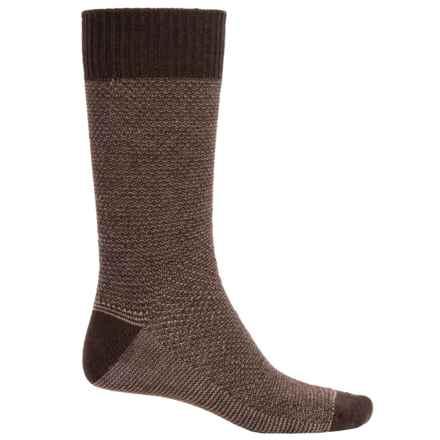 Goodhew Oxford Socks - Merino Wool, Crew (For Men) in Espresso - Closeouts
