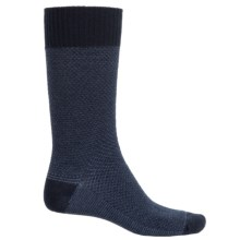 Goodhew Oxford Socks - Merino Wool, Crew (For Men) in Navy - Closeouts