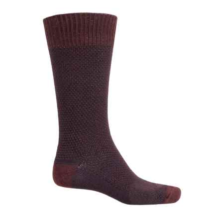 Goodhew Oxford Socks - Merino Wool, Crew (For Men) in Port - Closeouts