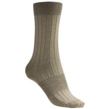 Goodhew Padua True Rib Socks - Merino Wool Blend, Crew (For Women) in Khaki - Closeouts