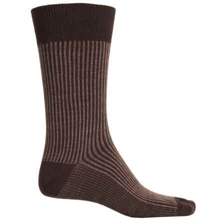 Goodhew Pinwhale Socks - Merino Wool, Crew (For Men) in Espresso - Closeouts