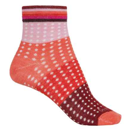 Goodhew Pixelated Socks - Merino Wool, Ankle (For Women) in Guava - Closeouts