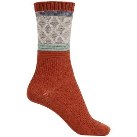 Goodhew Poplar Socks - Merino Wool Blend, Crew (For Women) in Ginger - Closeouts