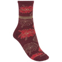 Goodhew Posey Pop Socks - Merino Wool, Crew (For Women) in Port - Closeouts