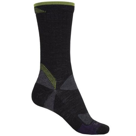 Goodhew Quest Hiker Socks - Lambswool-Alpaca, Crew (For Women) in Black