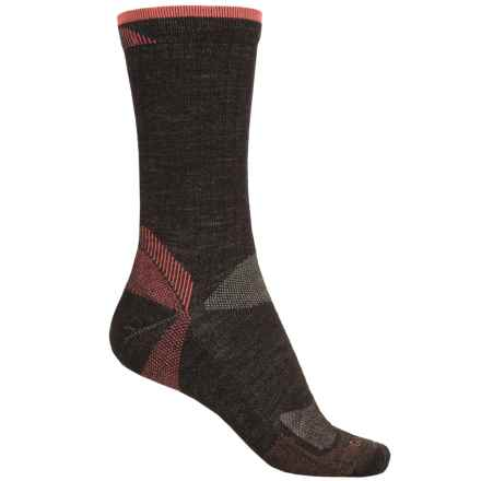 Goodhew Quest Hiker Socks - Lambswool-Alpaca, Crew (For Women) in Espresso - Closeouts