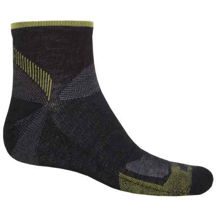 Goodhew Quest Quarter Hiking Socks - Lambswool-Alpaca, Quarter Crew (For Men) in Black - Closeouts
