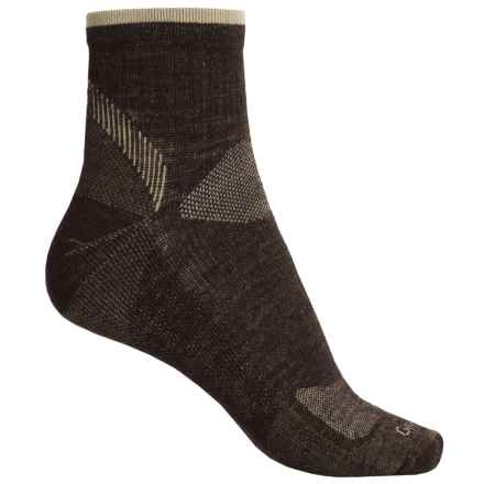 Goodhew Quest Quarter Hiking Socks - Lambswool-Alpaca, Quarter Crew (For Men) in Espresso - Closeouts