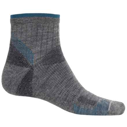 Goodhew Quest Quarter Hiking Socks - Lambswool-Alpaca, Quarter Crew (For Men) in Grey - Closeouts