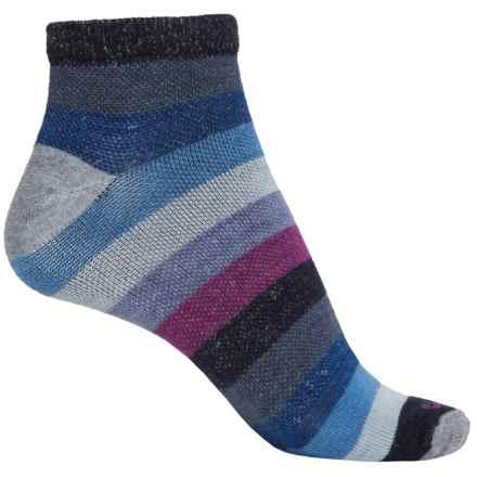 Goodhew Rainbow Run Socks - Merino Wool, Ankle (For Women) in Grey - Closeouts