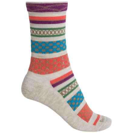 Goodhew Ribbon Fair Isle Socks - Merino Wool, Crew (For Women) in Barley - Closeouts