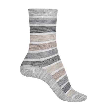 Goodhew Ringer Stripe Socks - Merino Wool Blend, Crew (For Women) in Grey - Closeouts