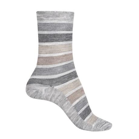 Goodhew Ringer Stripe Socks - Merino Wool Blend, Crew (For Women)